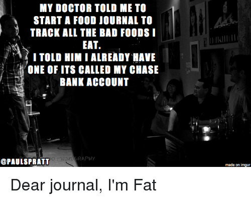 MY DOCTOR TOLD ME TO START a FOOD JOURNAL TO TRACK ALL THE