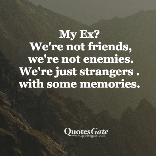 My Ex? We\'re Not Friends We\'re Not Enemies We\'re Just ...