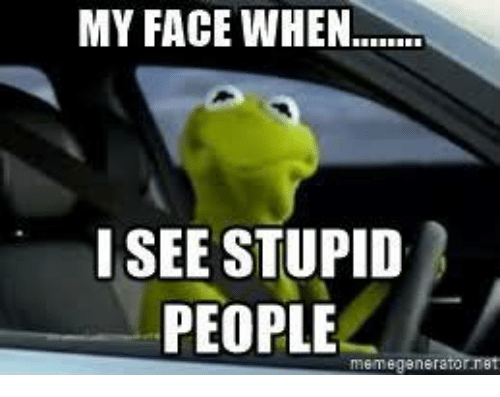 Stupid People Meme