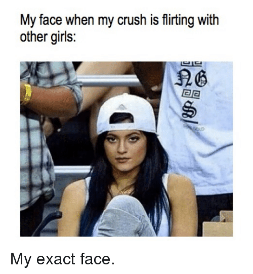 My crush flirts with other girls