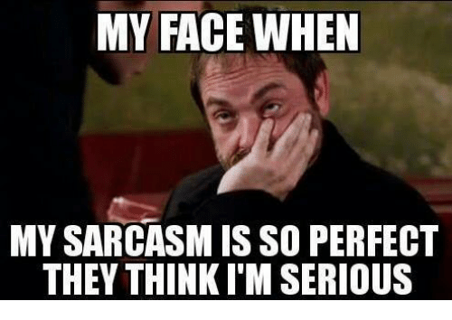 Girl Memes, My Face When, and Sarcasm: MY FACE WHEN  MY SARCASM IS SO PERFECT  THEY THINKI'M SERIOUS