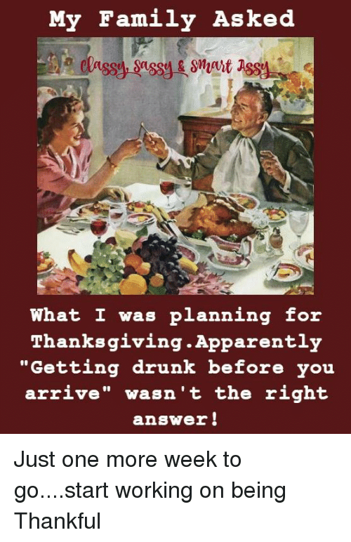 You migraine Getting drunk with family will change