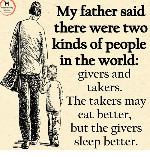 quotes about takers and not givers