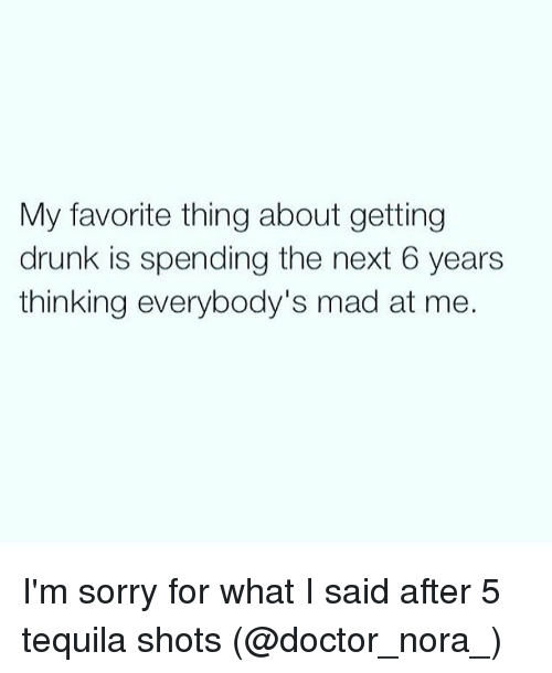 sorry for what i said when i was drunk