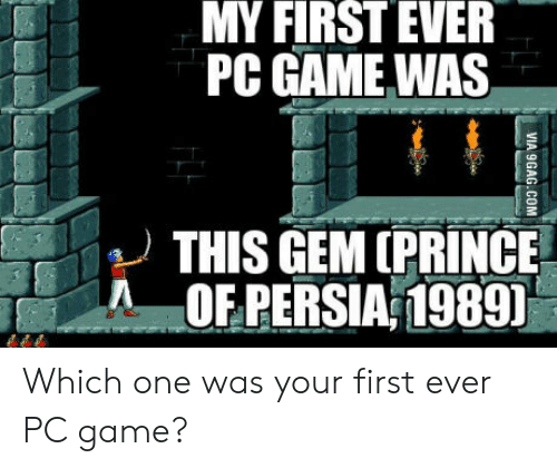Prince, Game, and Persia: MY  FIRST  EVER  PC GAME WAS  THIS GEM (PRINCE  :  beǐ  AOF PERSIA 1989 Which one was your first ever PC game?