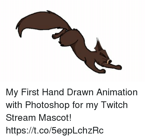 My First Hand Drawn Animation With Photoshop for My Twitch Stream