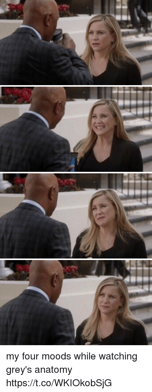 Memes, Grey's Anatomy, and 🤖: my four moods while watching grey's anatomy https://t.co/WKIOkobSjG