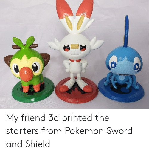 My Friend 3d Printed The Starters From Pokemon Sword And Shield