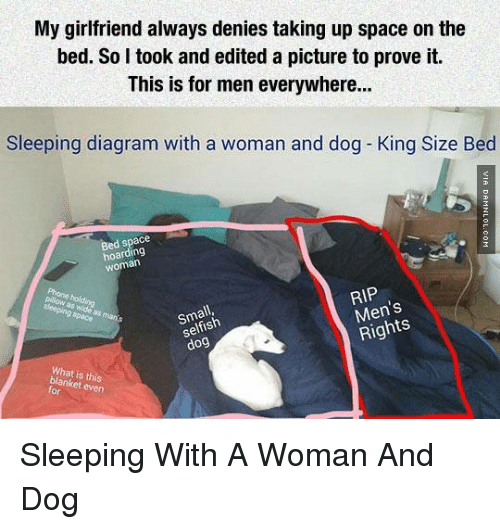 my girlfriend always denies taking up space on the bed 6600863 search king size bed memes on me me