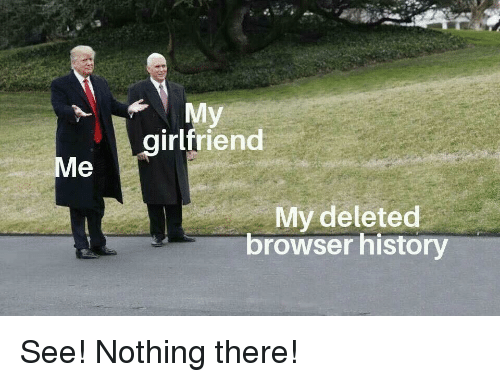History, Girlfriend, and Browser: My  girlfriend  Me  My deleted  browser history