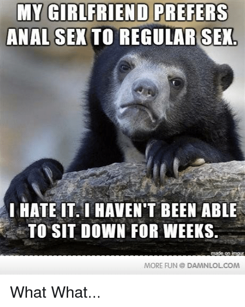 I hate anal sex