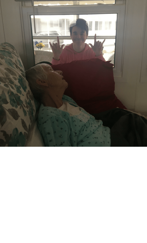 Als, Her, and Last Night: My grandmother died last night from ALS. This was the last moment I had with her. I wasn't able to see her for months due to recent events. Please stay indoors guys.