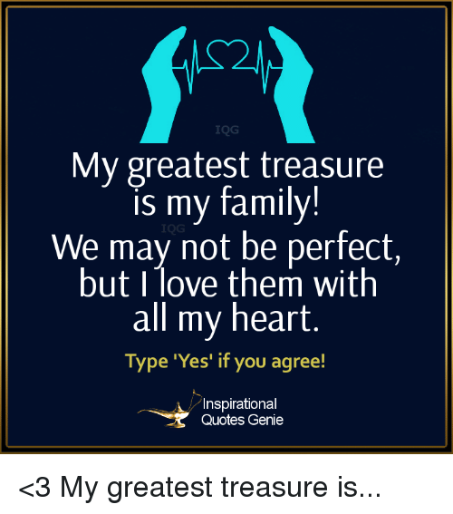 Picsmememy Greatest Treasure Is My Family We Ma