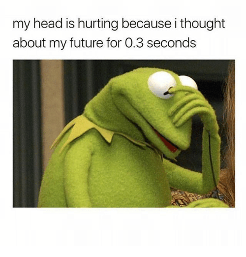 Future, Head, and Girl Memes: my head is hurting because i thought  about my future for 0.3 seconds