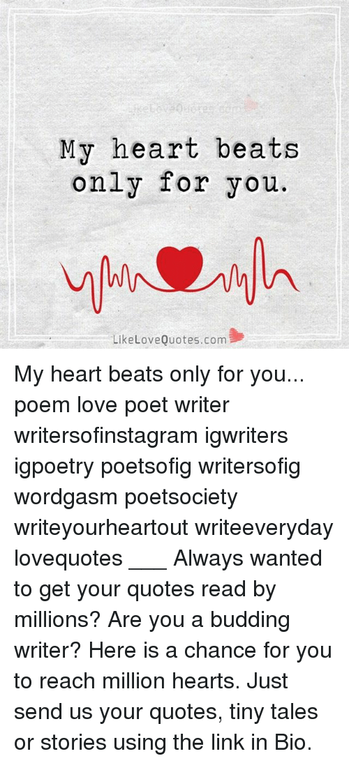 My Heart Beats Only For You Like Quotescom Love My Heart Beats Only