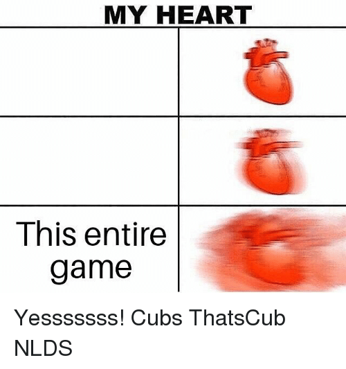 MY HEART This Entire Game Yesssssss! Cubs ThatsCub NLDS | Chicago