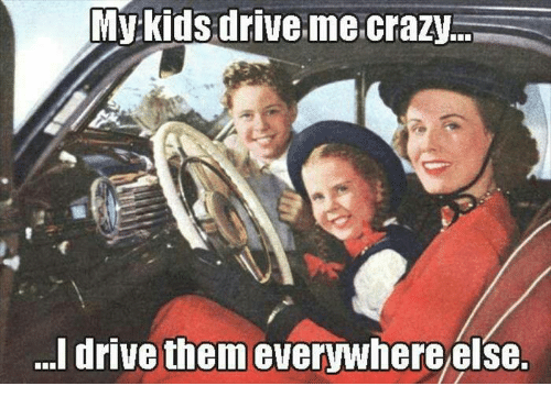 my kids drive me crazy i drive them everywhere else 5471261 my kids drive me crazy i drive them everywhere else crazy meme on