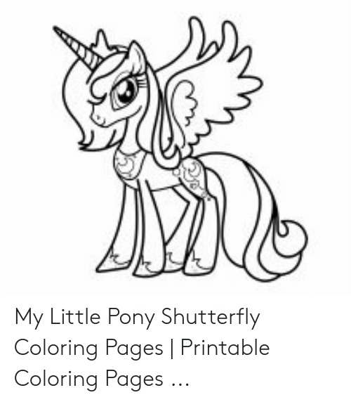 My Little Pony Shutterfly Coloring Pages Printable Coloring