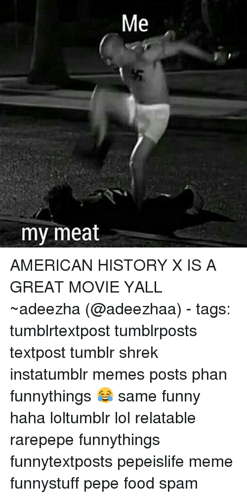 my meat me american history x is a great movie 18309732 ✅ 25 best memes about american history x american history x memes,Funny American History