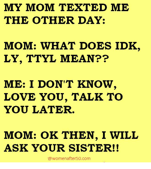 what my sister means to me While there, my sister-in-law said she had tickets for a trip later in the week for my husband and her son and husband for a boys' day out she was going to take me, her other child and my.