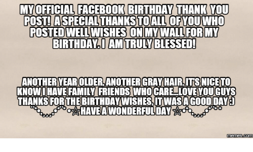 Walle Wells And Specials MY OFFICIAL FACEBOOK BIRTHDAY THANK YOU POST A