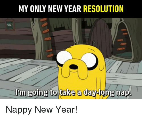 Dank, New Year's, and 🤖: MY ONLY NEW YEAR RESOLUTION  l'm  going to take a daylong nap Nappy New Year!