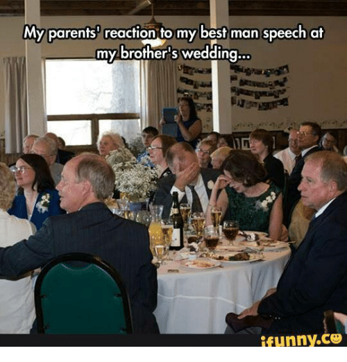 My Parents Reaction To My Best Man Speech At My Brother