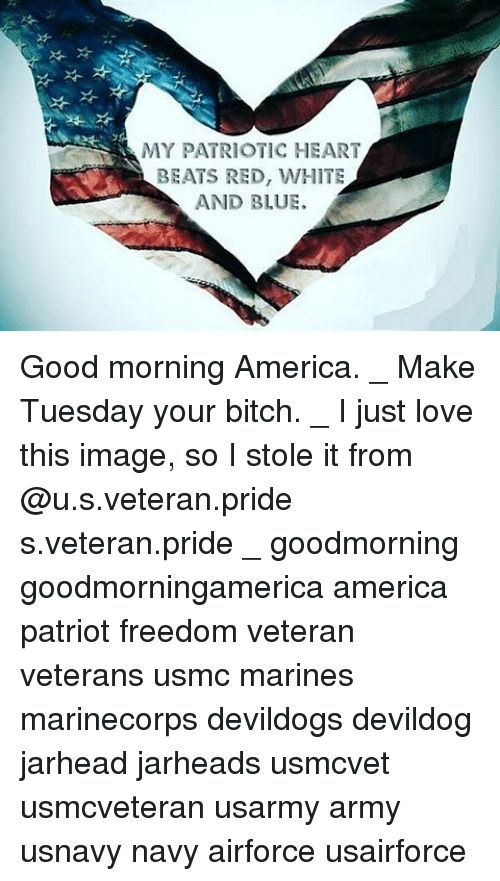 My Patriotic Heart Beats Red White And Blue Good Morning America