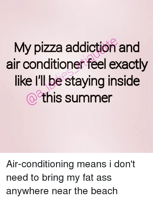Ass, Fat Ass, and Pizza: My pizza addiction and air conditioner feel exactly