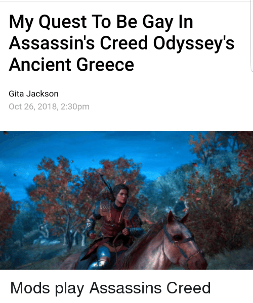My Quest to Be Gay in Assassin's Creed Odyssey's Ancient Greece Gita