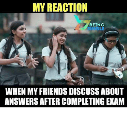 my reaction being le when my friends discuss about answers 25029595 my reaction being le when my friends discuss about answers after