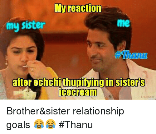 my reaction my sister after echchithupiving in sisters icecream brother sister 11484419 my reaction my sister after echchithupiving in sisters icecream,Brother Sister Memes