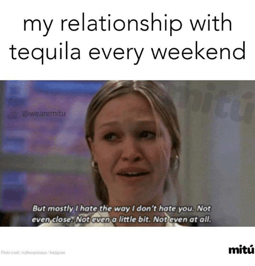 We Are Mitú: My Relationship With Tequila Every Weekend Are Mitu But
