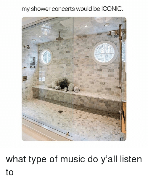 Music, Shower, And Girl Memes: My Shower Concerts Would Be ICONIC What Type