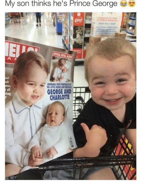 Prince, Charlotte, and Prince George: My son thinks he's Prince George  ok  otos,  all  GEORGE AND  CHARLOTTE