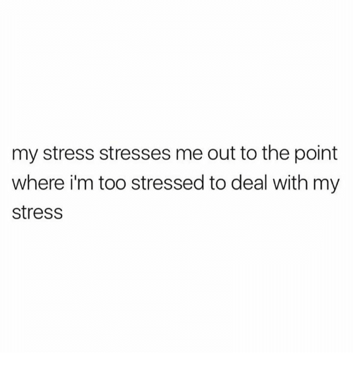 Memes, 🤖, and Stress: my stress stresses me out to the point  where i'm too stressed to deal with my  stress