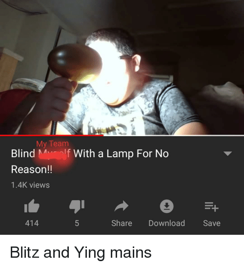 My Team Blind Molf With a Lamp for No Reason!! 14K Views 414 Share