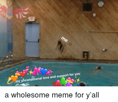 Love, Meme, and Wholesome: my unconditional love and su  pport for you