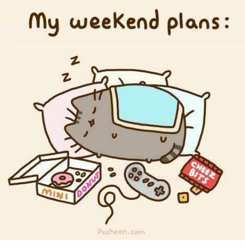 Memes, 🤖, and Pusheen: My weekend plans:  Pusheen.com