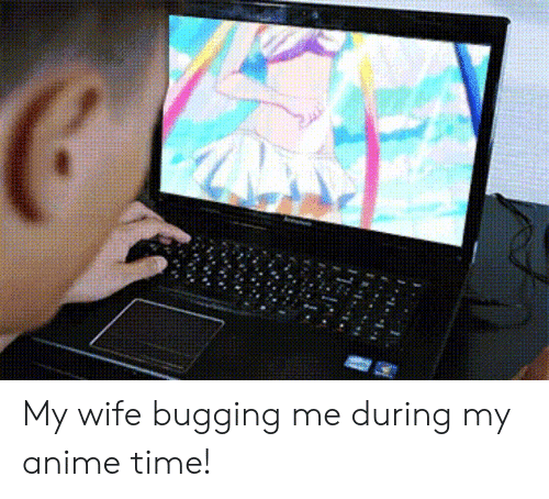 Anime, Time, and Wife: My wife bugging me during my anime time!