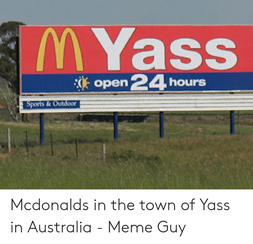 Myass Open 24 Hours Sports Outdoor Mcdonalds In The Town Of