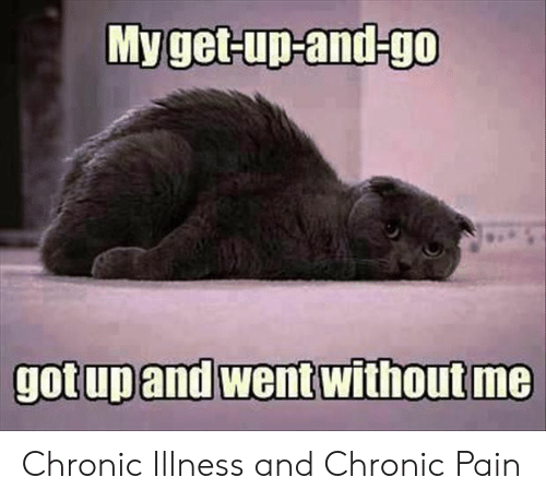 Pain, Chronic, and Went: Myget-up-and-go  gotup and went without me Chronic Illness and Chronic Pain