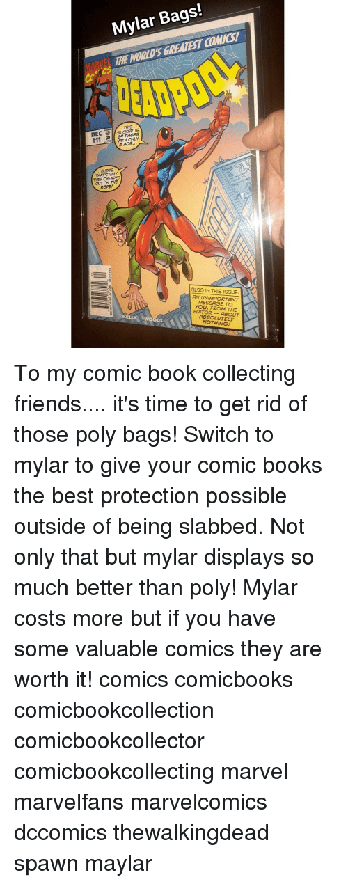 comic book bags poly vs mylar
