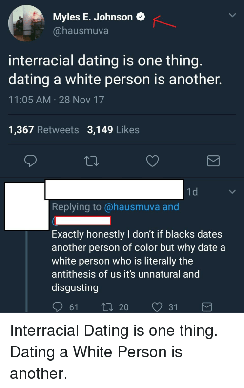 Interracial dating unnatural