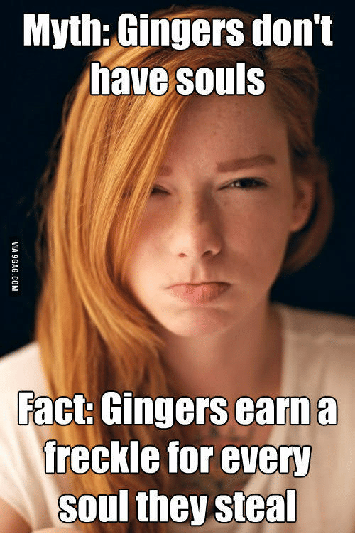myth gingers dont have souls fact gingers earn a freckle 14468062 myth gingers don't have souls fact gingers earn a freckle for every