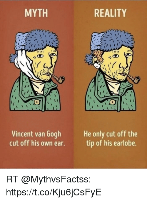 Memes Vincent Van Gogh And Reality Myth Cut Off