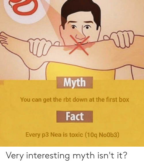 Myth You Can Get the Rbt Down at the First Box Fact Every P3