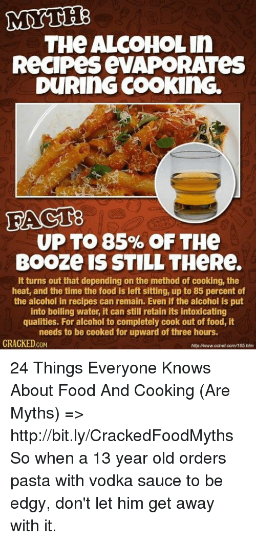 Mythe the alcoholin recipes evaporates during cooking upto 85 of memes alcohol and cracked mythe the alcoholin recipes evaporates during cooking upto forumfinder Choice Image