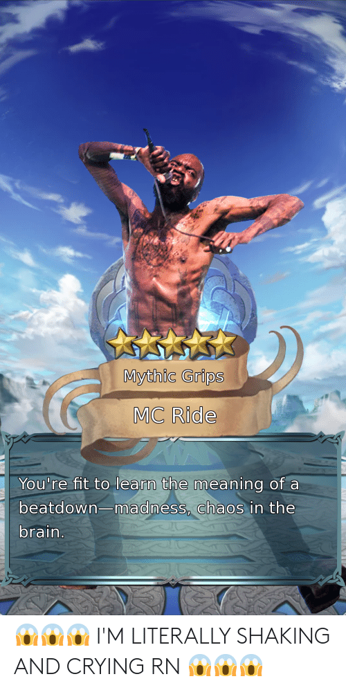 Mythic Grips MC Ride You're Nt T O Learn the Meaning of a Beatdown