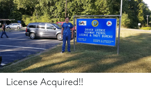Asp, Division, and Driver: N*C  DPS  A  ASP  DRIVER LICENSE  HIGHWAY PATROL  LICENSE &THEFT BUREAU  DEPARTMENT OF  PUBLIC SAFETY  DEPARTMENT OF TRANSPORTATION  DIVISION OF MOTOR VEHICLES  HION License Acquired!!